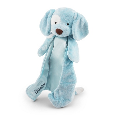 Blue Puppy Huggy Buddy - $25.00