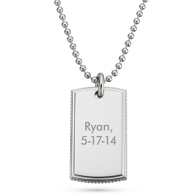 Engraved Silver Dog Tags for Men
