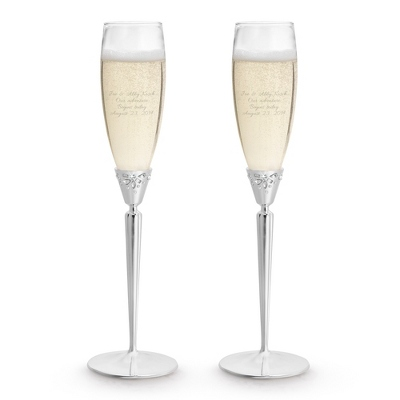 Waterford Monique Lhuillier Modern Love Toasting Flutes - Romantic Wedding
