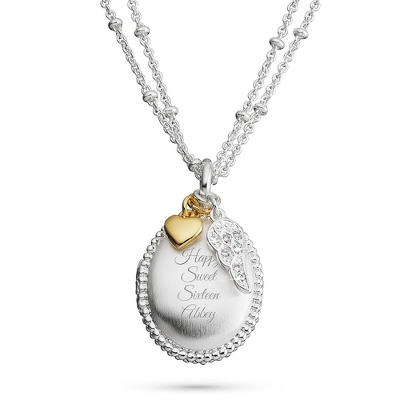 Silver Oval Brushed Locket with complimentary Filigree Keepsake Box - $29.99
