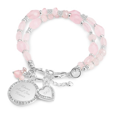 Emma Pink Crystal Bracelet with complimentary Filigree Keepsake Box - Fashion Bracelets & Bangles