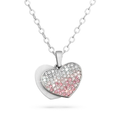 Girl's Ombré Heart Necklace with complimentary Filigree Heart Box - $40.00