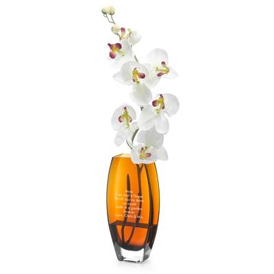 Tall Amber Vase - UPC 825008017030