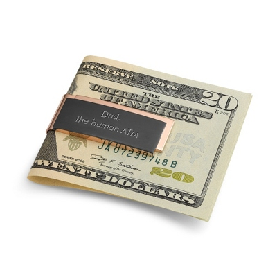 Silver Money Clip Card Holder