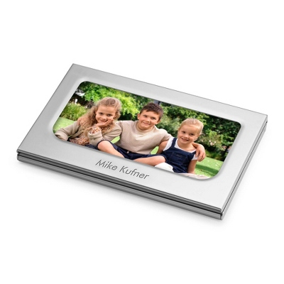 Photo Card Case with complimentary Engravable Red Secret Message Card - Purse Accessories