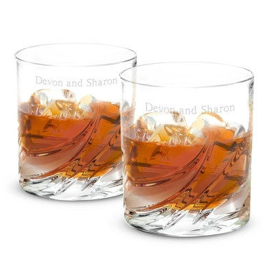 Engraved Bourbon Glasses - 4 products