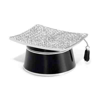 Pave Crystal Graduation Secret Message Box - Grad Gifts for Her
