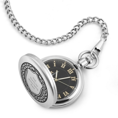 Shield Pocket Watch - Men's Jewelry