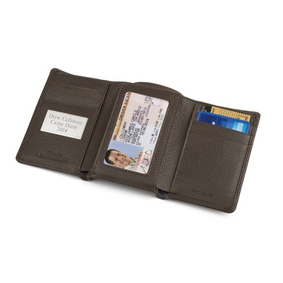 Brown Trifold Wallet with complimentary Secret Message Card