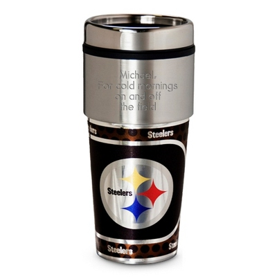 Steelers Metallic Tumbler - UPC 825008019881