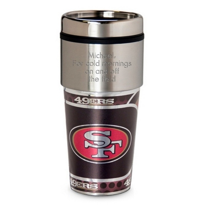 49ers Metallic Tumbler