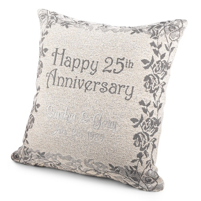 25th Anniversary Pillow - 25th & 50th Anniversary Gifts
