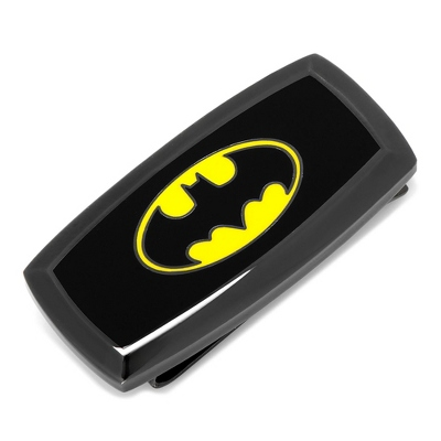 Batman Money Clip with complimentary Weave Texture Valet Box