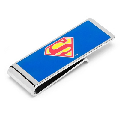 Superman Money Clip with complimentary Weave Texture Valet Box