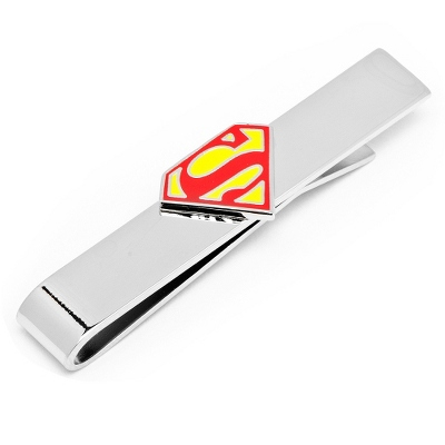 Superman Tie Bar with complimentary Weave Texture Valet Box - Tie Bars & Cuff Links