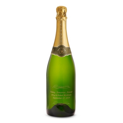 Reserve Sparkling Today Tomorrow Forever Etched Wine Bottle - $80.00