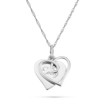 .03 CT Diamond Loop Necklace with complimentary Filigree Keepsake Box - $100.00