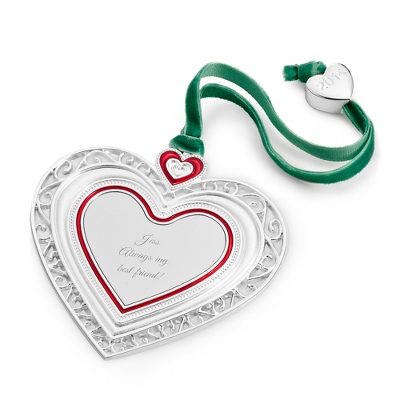 2014 Personalized Christmas Heart Ornament - All Christmas Ornaments