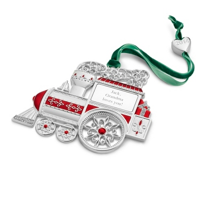 2014 Personalized Christmas Train Ornament - All Christmas Ornaments