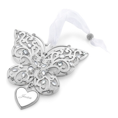 2014 Make-A-Wish Personalized Butterfly Ornament - All Christmas Ornaments