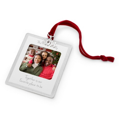 2014 Classic Engraved Photo Frame Christmas Ornament - All Christmas Ornaments