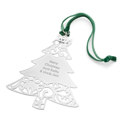 2014 Engraved Classic Christmas Tree Ornament