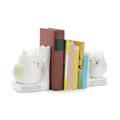 Ceramic Owl Bookend Set