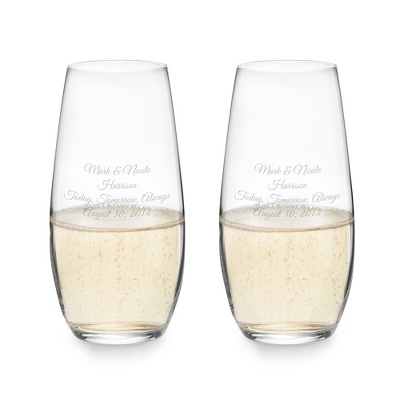 "Riedel ""O"" Stemless Champagne Glasses - $30.00"