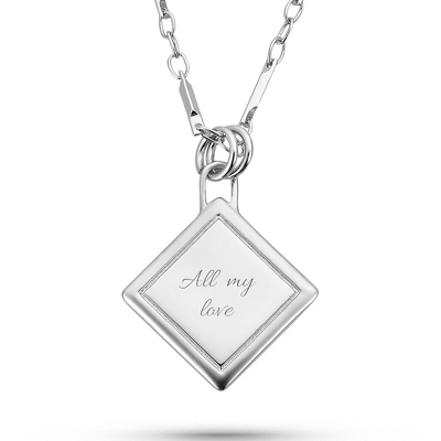 Platinum Dipped Satin Diamond Necklace with complimentary Filigree Keepsake Box - Fashion Necklaces