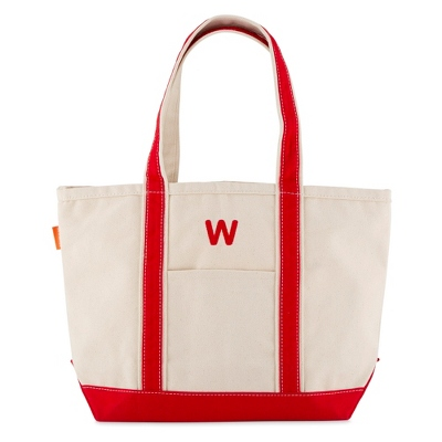 Medium Red Canvas Boat Tote