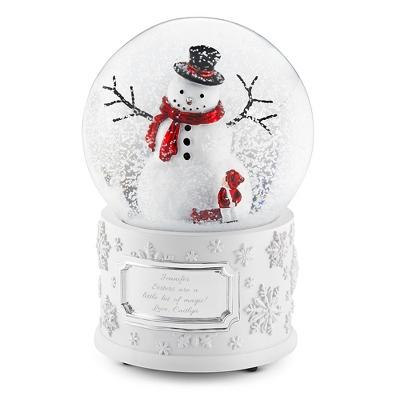 Personalized Make-A-Wish Winter Wonderland Snowman Water Globe