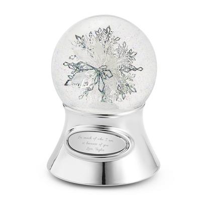 Personalized Make-A-Wish Snowflake Water Globe