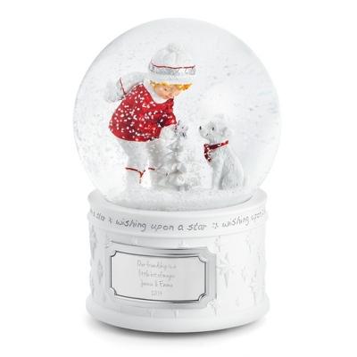 Personalized Make-A-Wish Winter Friends Water Globe