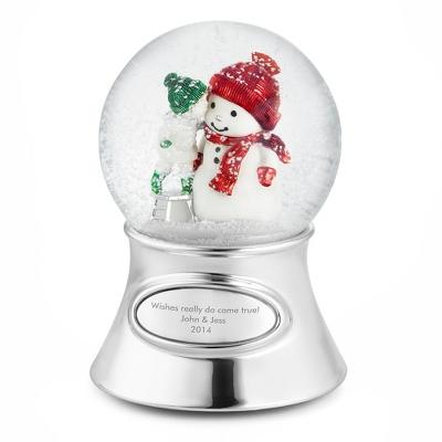 Personalized Make-A-Wish Snowman Christmas Water Globe
