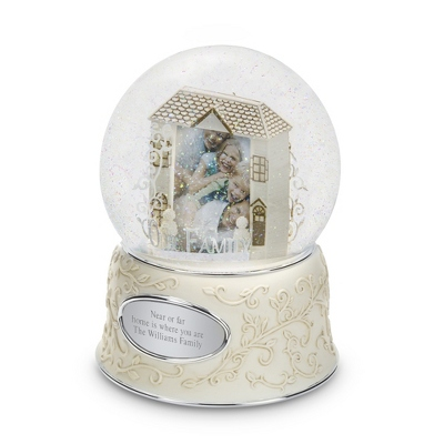 Personalized Custom Family Photo Snow Globe by Things Remembered
