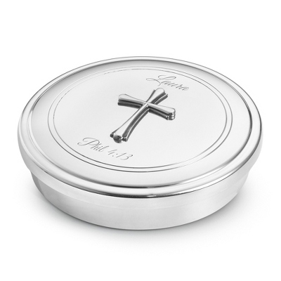 "3"" Cross Pewter Keepsake Box"