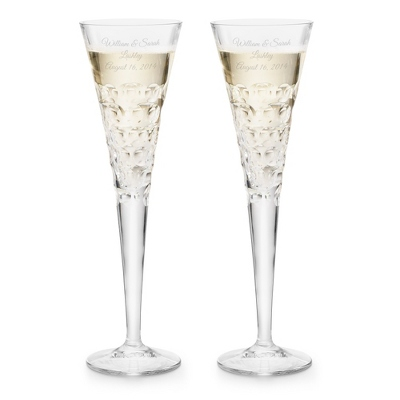 Bubble Crystal Toasting Flutes - UPC 825008027213