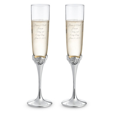 Waterford Monique Lhuillier Sunday Rose Flutes