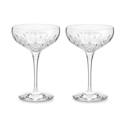 Waterford Lismore Essence Saucer Champagne Pair - UPC 825008027459