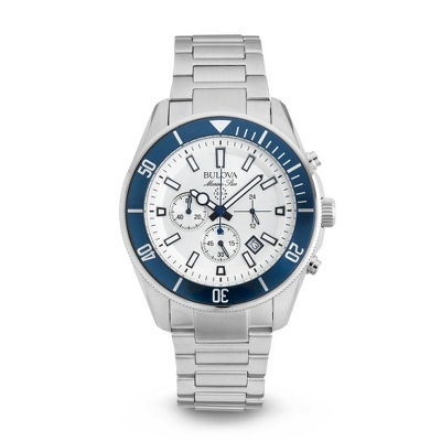 Men's Bulova Marine Star Blue Bezel Watch 98B204