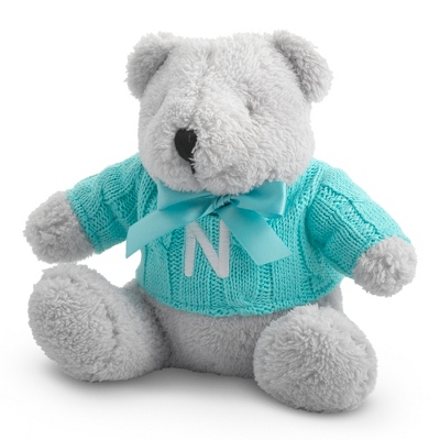 Aqua Knit Sweater Bear - $15.00