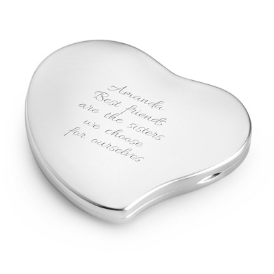 Wave Heart Locket Personalized Compact Mirror