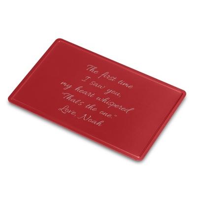 Engravable Red Secret Message Card