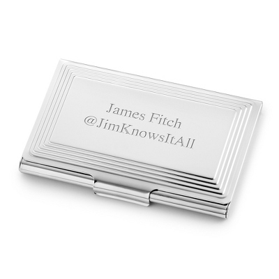 Classic Step Engraved Business Card Case