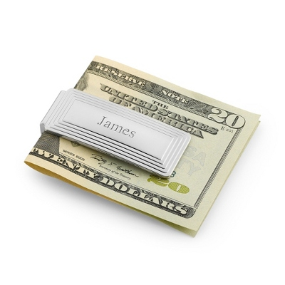 Classic Step Engraved Money Clip