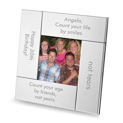 Modern Gallery 4 Part Square Frame - Anniversary Frames & Albums