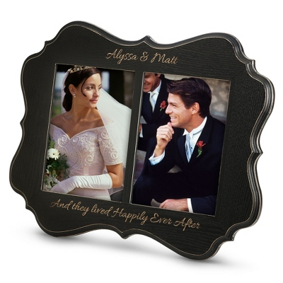 5x7 Double Opening Black Annabelle Frame
