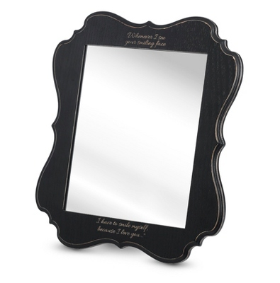 5x7 Black Annabelle Mirror