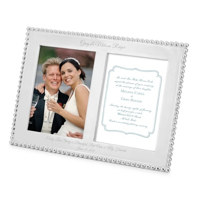 Mariposa 5x7 Beaded Double Opening Picture Frame - UPC 825008030138