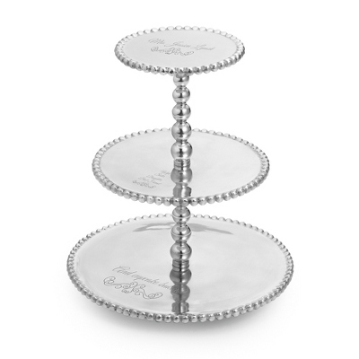 Mariposa Recycled Aluminum Cupcake Tower - 10th Anniversary Gifts